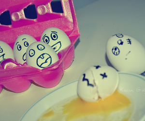 eggs, funny, and cute image
