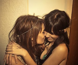 girl, friends, and lesbian image