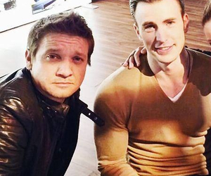 chris evans, jeremy renner, and captain america image
