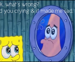 crying, friendship, and patrick star image