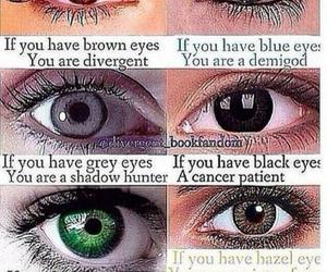 divergent, eyes, and fandom image