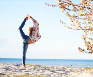 beach, summer, and flexible image