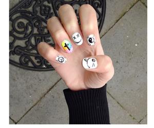 diy, hipster, and nail art image