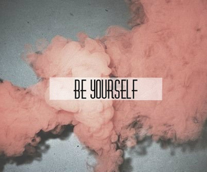 pink, be yourself, and quotes image