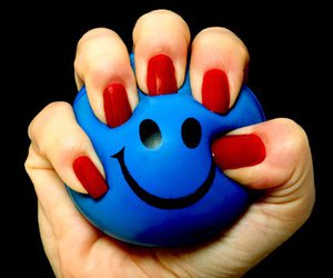 ball, blue, and happy image