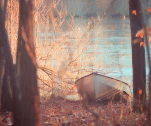 autumn, boat, and nature image