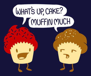 muffin, cupcake, and funny image