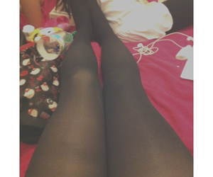 Lazy, legs, and stockings image