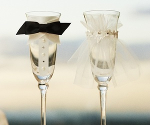 wedding, champagne, and bride image
