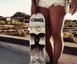 chanel, girl, and skate image