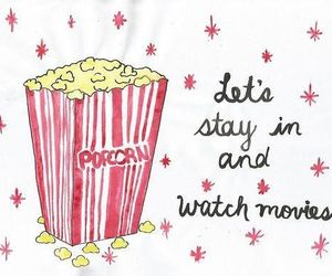 popcorn, movies, and movie image