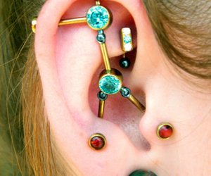 ear, cute, and piercing image