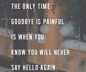 goodbye, quote, and hello image