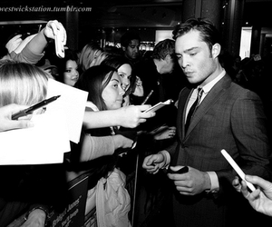 chuck bass, ed westwick, and fans image