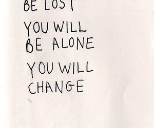 quotes, alone, and change image