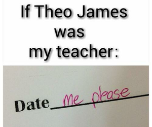 theo james, divergent, and date image