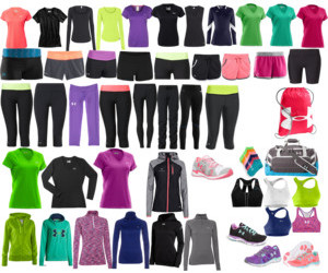 clothes, Polyvore, and workout image