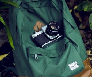 camera, photography, and bag image