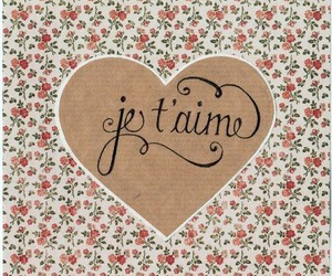 love, heart, and je t'aime image