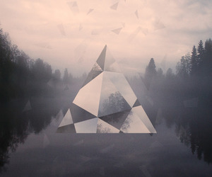 triangle, forest, and hipster image