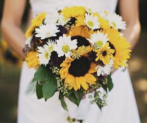 bride, daisy, and dress image
