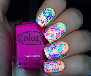 nails, neon, and art image