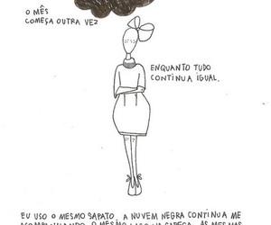 saudade, dores, and texto image