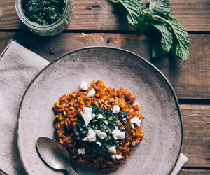 carrot, feta, and mint image