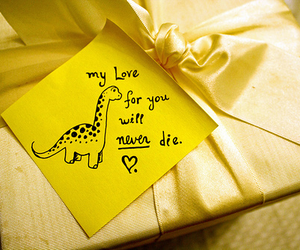 love, dinosaur, and never image