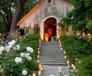 candle, garden, and wedding image