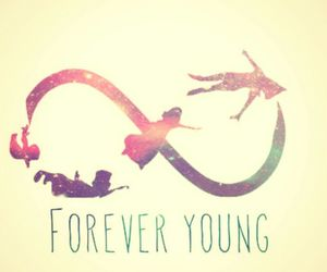 colorful, Forever Young, and galaxy image