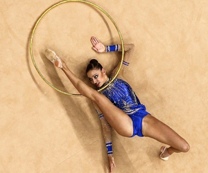 gymnastics, hoop, and rhythmic image