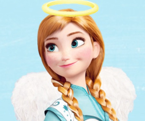 angel, anna, and frozen image