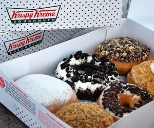 food, donuts, and krispy kreme image