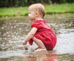 rain and child image