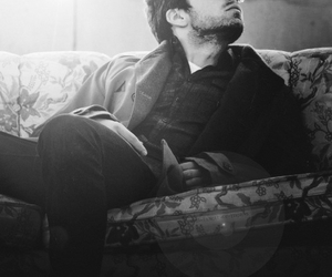 sebastian stan and black and white image