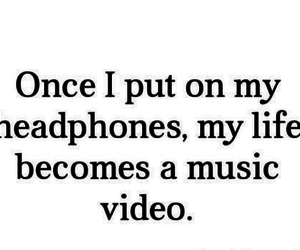 music, headphones, and life image