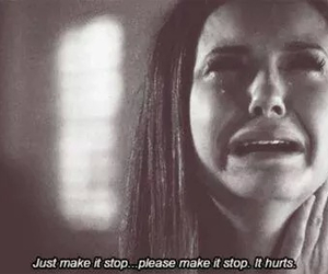 hurt, sad, and the vampire diaries image