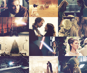 Anakin Skywalker, Princess Leia, and star wars image