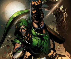 justice league, dc comics, and oliver queen image
