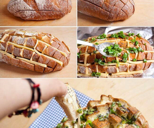 bread, cheese, and comida image