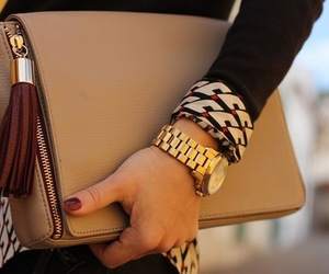 outfit, watch, and bag image