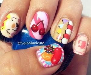 nails, candy, and candy crush image