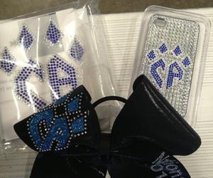 bows, cheer, and cheerleader image