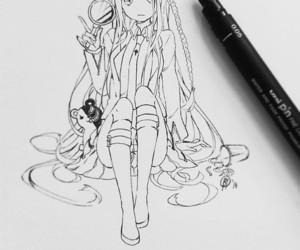 anime, anime girl, and draw image