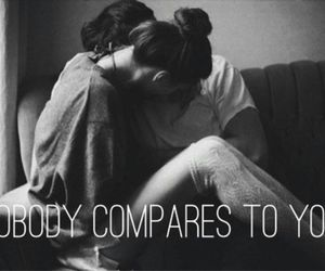 love, couple, and compare image
