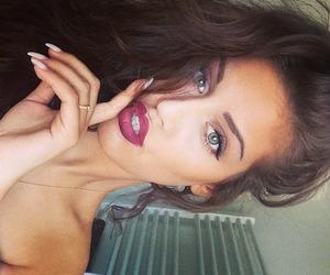 girl, hair, and lips image