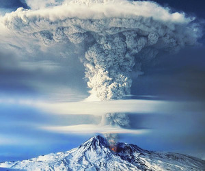 nature, volcano, and mountains image