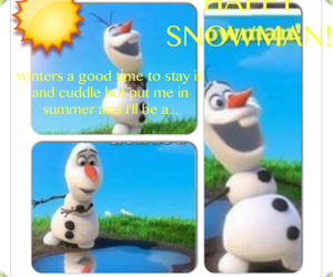frozen, lol, and olaf image