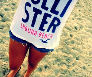 hollister, beach, and summer image